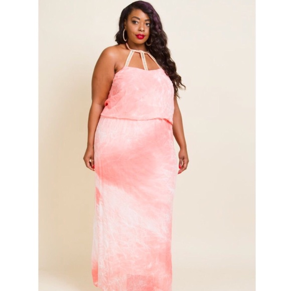 New women's plus size water color maxi dress . Boutique